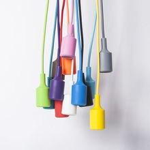 Красочный подвесной светильник из силикагеля, подвесной светильник для детской комнаты, декоративная лампа для дома, тринадцать цветов, держатель E27, AC90-260V