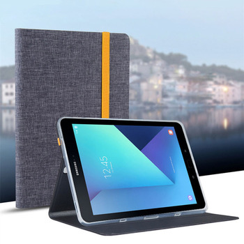 цена на For Samsung Galaxy Tab S3 9.7 T820 T825 Tablet Smart Cover Tab S3 T820 9.7 inch Leather Cover Case Protective Stand Skin Fundas