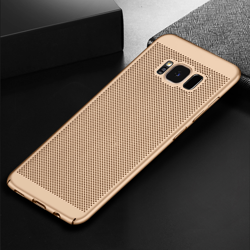 Cooling PC Cover Cases For Samsung Galaxy S8 S9 Plus Heat Dissipate Phone Bags Shell For Samsung S10 Plus S10e S6 S7 Edge Capa