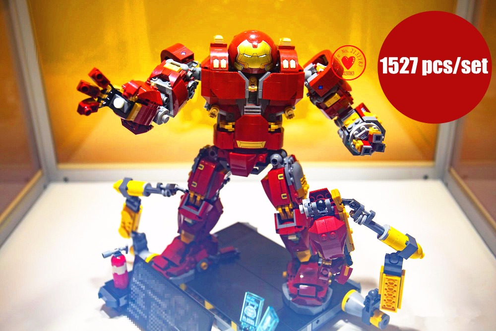 New Superheroes Iron Man mk50 hulkbuster fit legoings infinity wars avengers marvel figures Building Bricks Block 76105 gift Toy цена