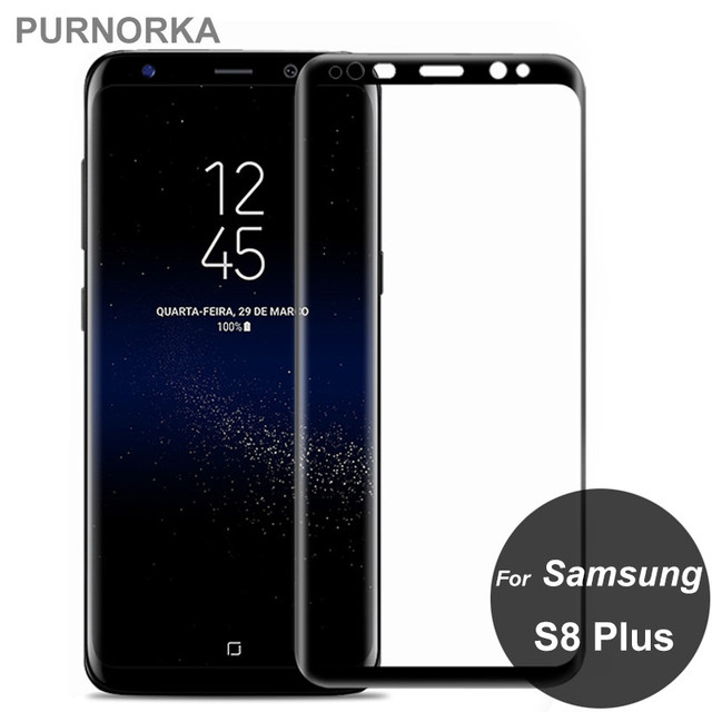For Samsung Galaxy S8 Plus Full Cover Screen Protector 9H Tempered Glass All Coverge Protective Film On S8Plus G955F G955F 6.2