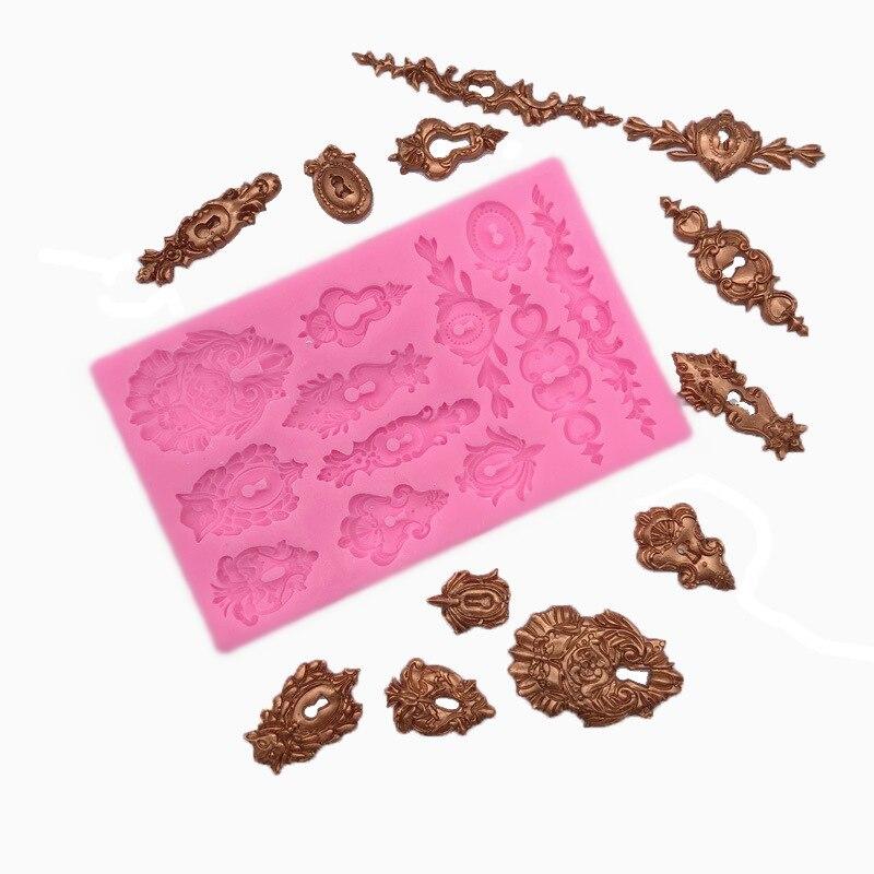 Motif European pilier Moule en silicone moule gâteau chocolat bonbons Décoration Outil