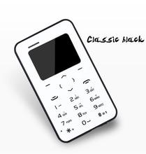 Оптовые 5 Шт. в Одном Пакете AEKU Q2 Мини Сотовый Телефон Карты 4.8 ММ Ультра Тонкий Multi-Language Card Карман для мобильного Телефона
