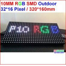SMD rgb led матрица P10 led дисплей экранная Светодиодная доска 320 мм* 160 мм 32*16 пикселей IP65 p10 наружные светодиодные модули