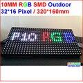 P10 módulo de led ao ar livre, placa de cor cheia RGB levou à prova d' água, 320 MM * 160 MM, SMD 3 EM 1 módulo de led, 32*16 pixel, IP65, 6500 Nits