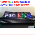 P10 outdoor led  module, full color RGB waterproof led board, 320MM*160MM,SMD 3 IN 1 led module, 32*16 pixel,IP65, 6500 Nits