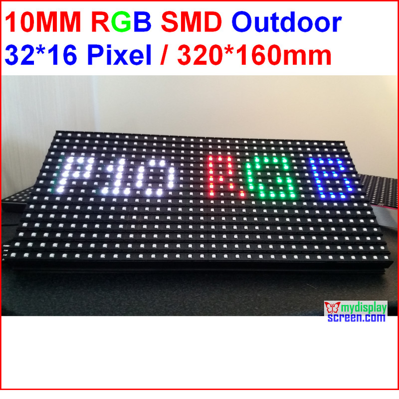 SMD Rgb Led Matrix P10 Led Display Screen Led Board 320MM*160MM 32*16 Pixel IP65 P10 Outdoor Led Modules