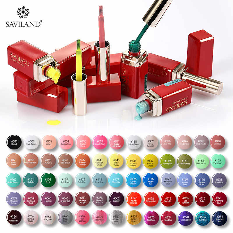 SAVILAND 70 Farben Gel Nagellack Set Alle für UV & LED Lampe Semi Permanent Emaille Gel Lack Top Basis mantel Nail art Nagellack