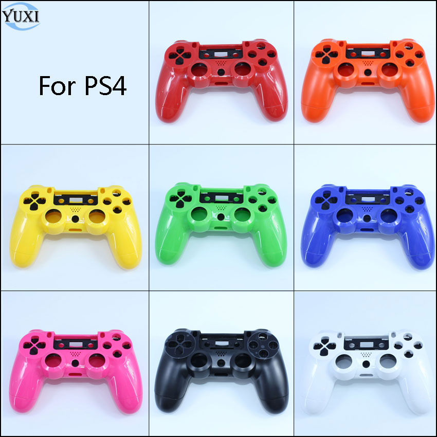 YuXi Full Housing Shell <font><b>Case</b></font> Skin Cover with Full Buttons <font><b>Mod</b></font> Kit Replacement For Playstation 4 <font><b>PS4</b></font> JDM-001 010 011 Controller image