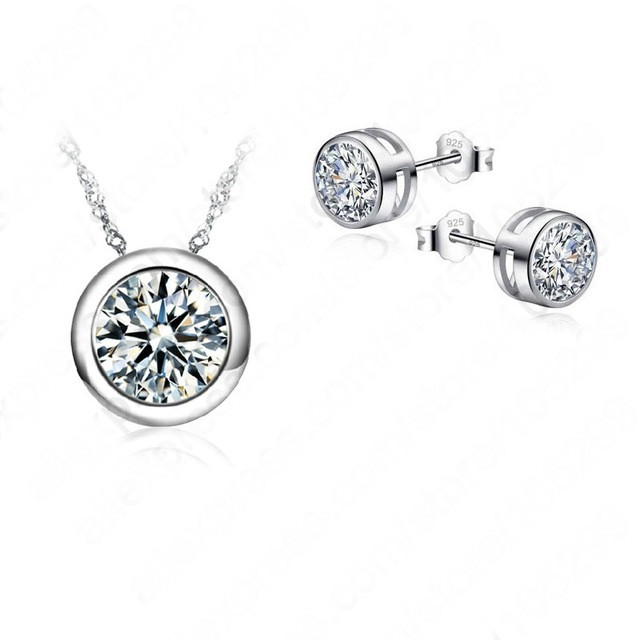 Jewelry-Sets Stud-Earrings-Set Necklace Bridal-Pendant Women Accessories Wedding