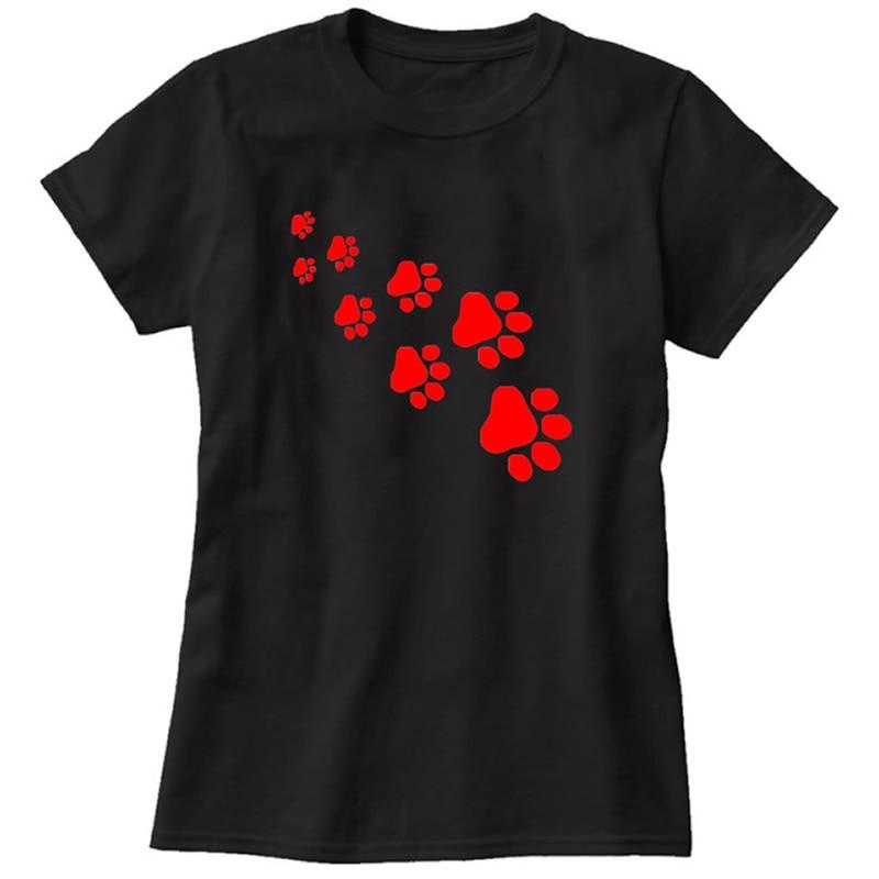 2018 T-Shirt FOR Women`s Funny DOG CAT Paws Harajuku Product Clothes Women Cat Alien Tumblr Vintage Vogue T Shirt Femme Tops