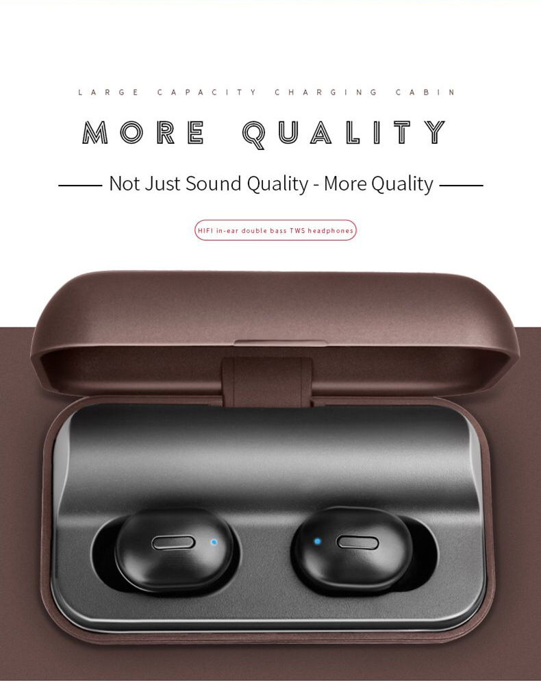 T1 TWS V5 0 Mini Bluetooth Earphone Headset 3D Stereo Wireless Earbuds Sport Handsfree Earphones With Microphone Charging Box in Bluetooth Earphones Headphones from Consumer Electronics