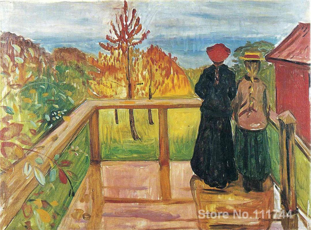 Famous artwork rain edvard munch paintings high quality hand painted