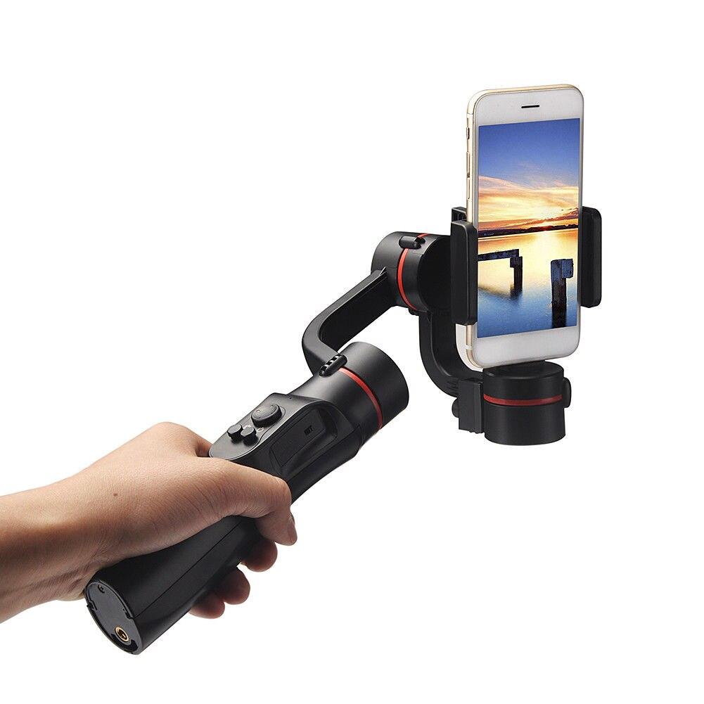 Stabilisateur de cardan de téléphone portable Bluetooth 360 degrés panoramique pour la photographie XM66 *