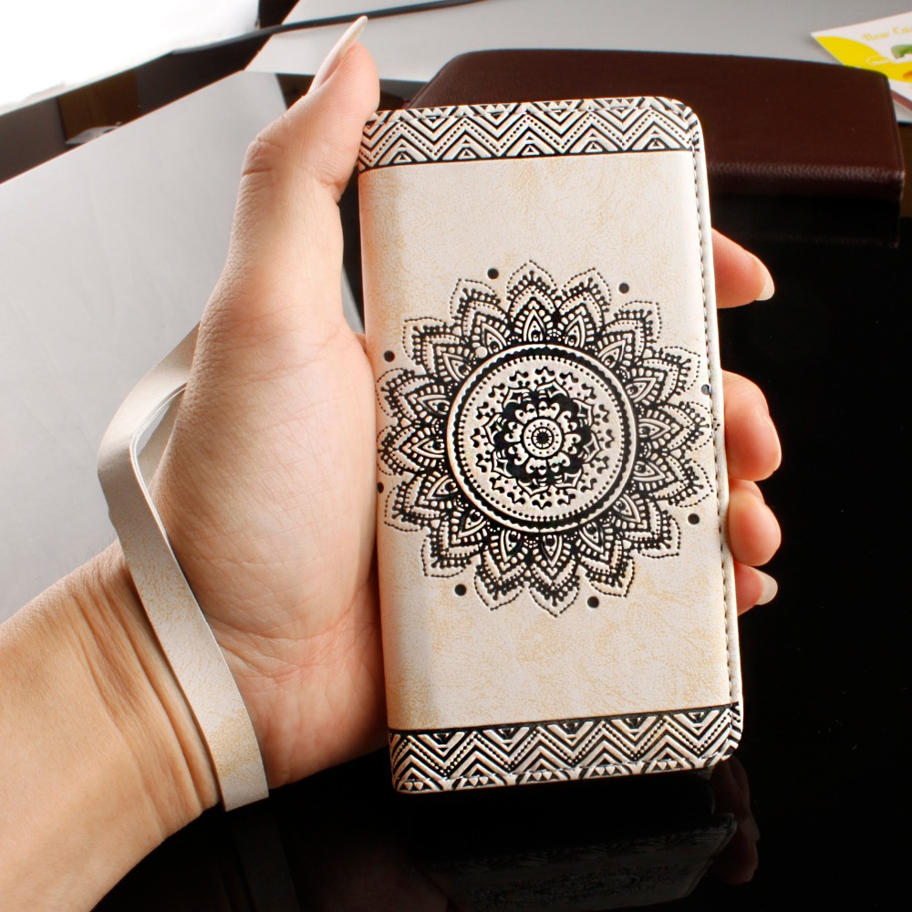 Cover for iPhone 7 8 Plus X 6 6S Plus Case Cases 5 5s SE Covers Bohemian Vintage PU Leather Flip Wallet Phone Cases Business