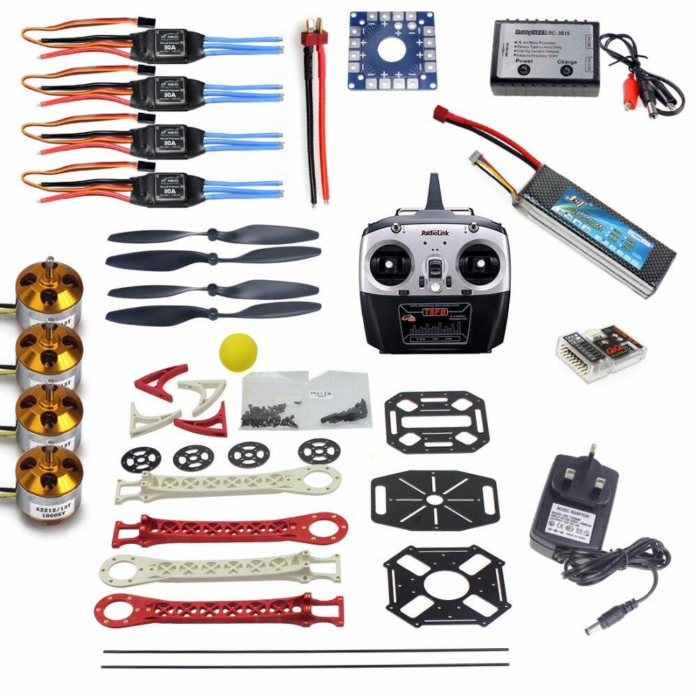 QuadCopter ARF/Kit RTF:QQ Super Control+Motor+ESC+Tarot Frame Kit 8CH TX&RX Welded ESC Motor f450 multi copter quadcopter rack kit apm2 8 8n m8n gps 2312 920kv motor readytosky 40a opto esc super combo