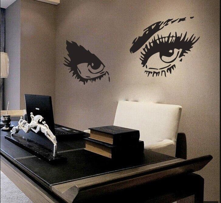 Fashion Style Cosmetic Wall Decal Vinyl Beauty Salon Girls