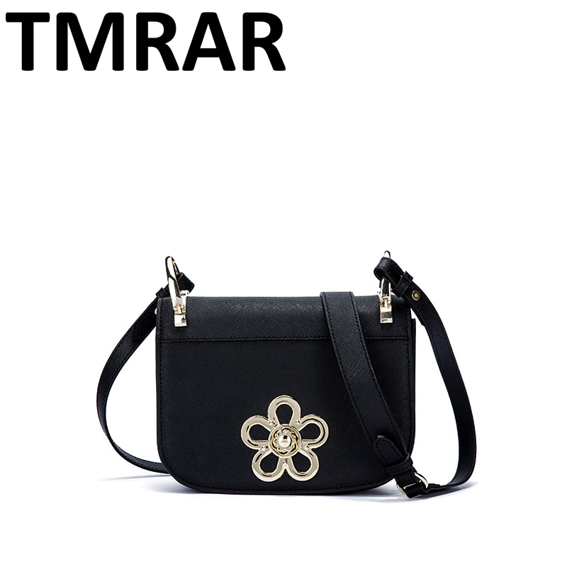 2018 New classic small flap messenger bags lady split leather handbags women flower crossbody bags for female bolsas qn106