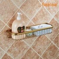 Beelee BA9411A Wall Mounted antique Brass Bathroom Soap Basket Bath Shower Shelf Basket Holder building material
