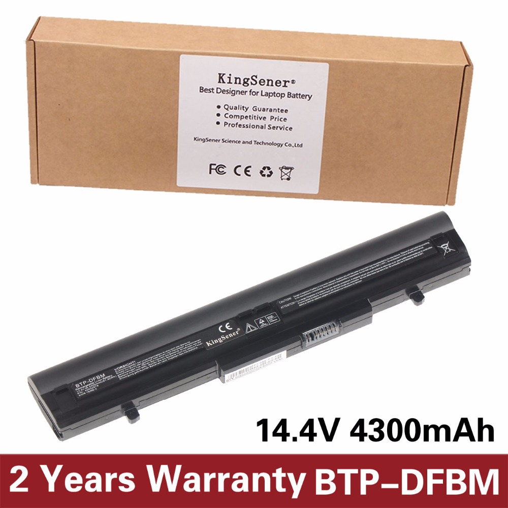 KingSener New BTP-DFBM Laptop Battery For Medion Akoya P6622 MD98250 BTP-DFBM BTP-DBBM 14.4V 4300mAh Free 2 Years warranty syoss тонирующий спрей для волос root retoucher 120 мл 5 тонов тонирующий спрей root retoucher 120 мл 5 тонов 120 мл черный