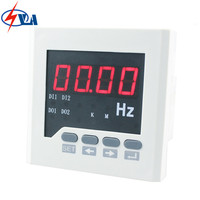 F61 panel size 72*72mm AC 220V white and black single phase digital frequency meters with high precision