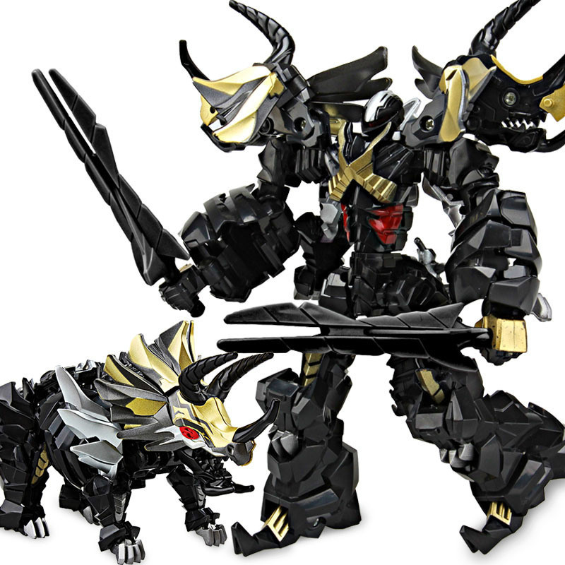 US $15 88 22% OFF|2018 New Arrival 21CM Dark Black Transformation Robot Toy  Boy Cool Anime Dinosaur Action Figure Collection Toys Kids Adult Gift-in