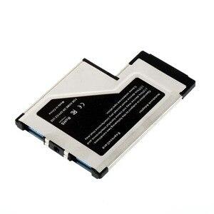 Image 5 - بطاقة Express 54 إلى USB 3.0 بطاقة 54 مللي متر اكسبرس USB PCMCIA 2 منافذ بطاقة محول معدل نقل تصل إلى 5Gbps ل ويندوز XP/Vista/7