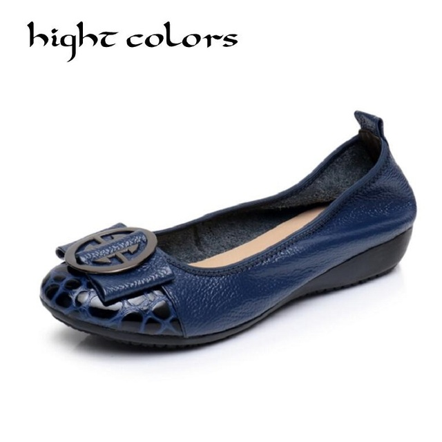 Genuine leather Sequined Comfortable Ballerina Flats Leisure Elegant Lady Work Shoes Large Size Shallow Mouth Ballerina Shoes