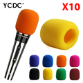 10 Colorful Handheld Stage Microphone Windscreen Foam Mic Covers Karaoke DJ Sale ENA049