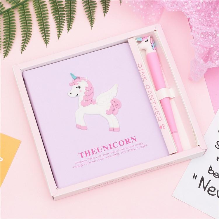 Jonvon Satone Unicorn Notebook Hand Account Book Set Hand Book Box Gift Cute Notebooks Travelers School Supplies Sketchbook