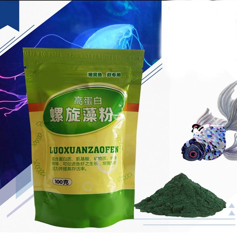 Ornamental Shrimp Open Feed Algae Fish Forages Spirulina Powder Bottle Healthy Ocean Nutrition Fish Food 100/50g