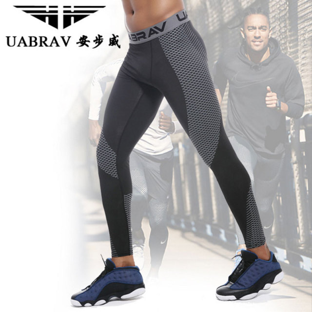 UABRAV Men's Winter Running Tights Compression Pants Sports Running Tights Gym  Bodybuilding Jogging Fitness  Running Tights