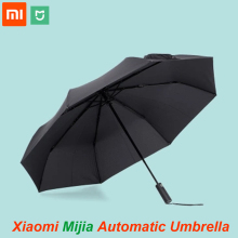 100%Original Xiaomi Mijia Automatic Sunny Rainy Aluminum Windproof Waterproof UV Man and woman Summer Winter