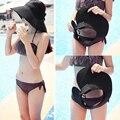 2017 Summer Empty Top Hats for Women chapeu feminino Straw Beach Sun Hats Cap Sunbonnet Visor Hat Sunscreen Folding Sun HatS2229