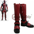 New Deadpool  Cosplay Boots Adult shoes Marvel  Deadpool Superhero Boots Custom Made D0418