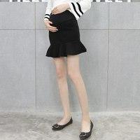 Новая юбка для беременных женщин; сезон осень-зима; облегающая юбка в виде рыбьего хвоста; Корейская версия пончо; плиссированная юбка в вид...