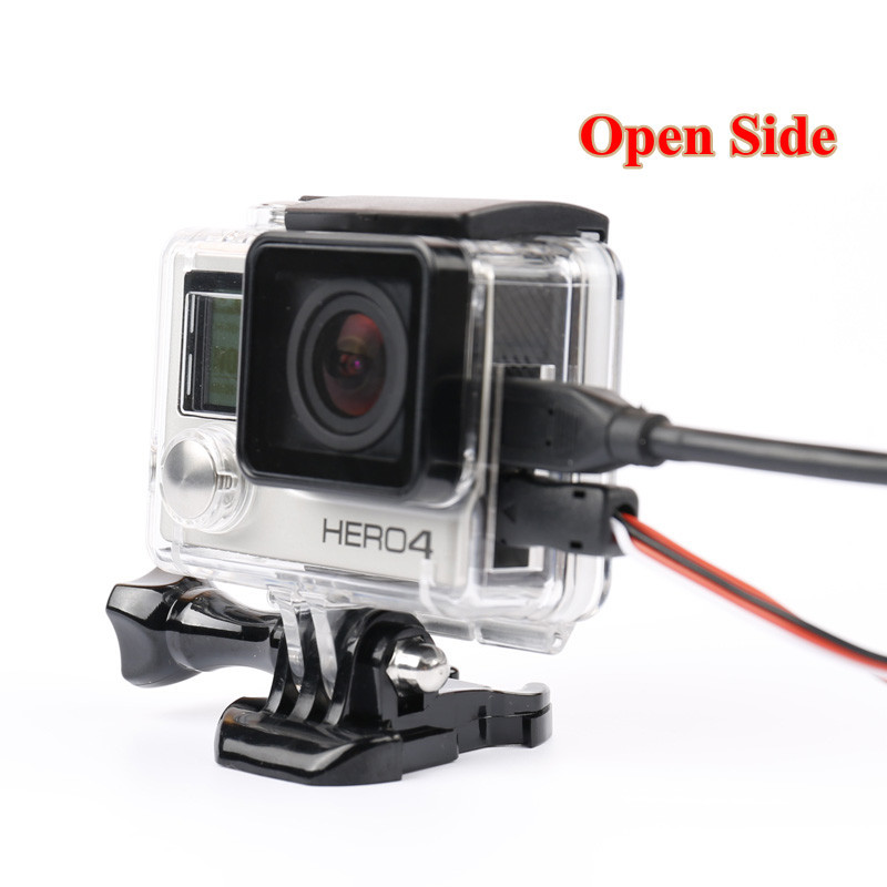 Go Pro 4 Accessories Skeleton Protective Case Housing Side