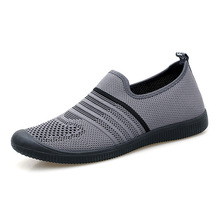 Mesh breathable driving hiking lazy shoes mens sets of feet casual