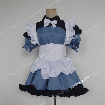 [Customized] Anime Fate Grand Order Jeanne d'Arc Maid Outfit Uniform Cosplay Costume Women Halloween Carnival Free Shipping New.