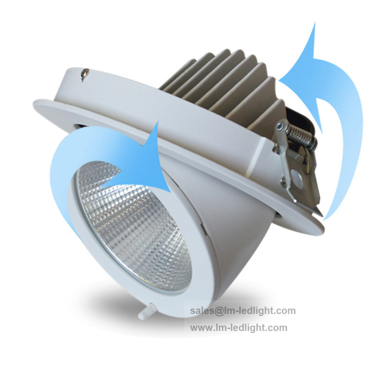 Rotate 360 degrees Dimmable Recessed LED Downlight COB 20W 30W LED Spot light LED Ceiling lamp AC 110V 220V Free shipping|spot light led|light lamp led|spot led lamp - title=