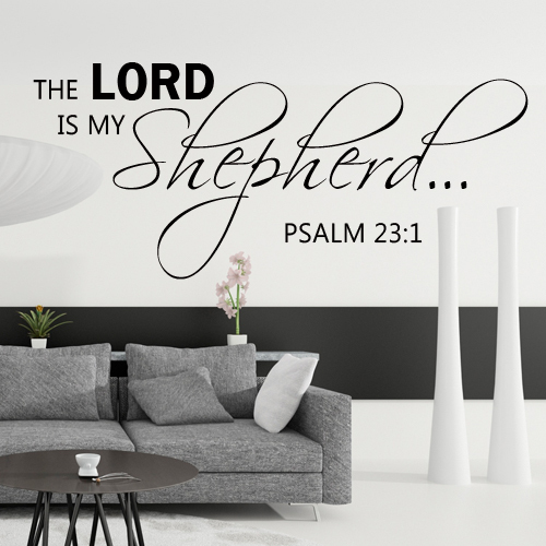 The Lord Is My Shepherd Wall Decal Bible Wall Quote Christian - Vinyl wall decals bible verses