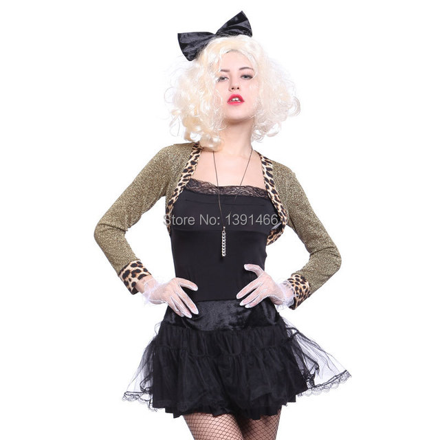 Womens 1980u0027s 80s Costumes Madonna Fancy Dress Jacket Gloves Top Party Outfit Uniform  sc 1 st  AliExpress.com & Womens 1980u0027s 80s Costumes Madonna Fancy Dress Jacket Gloves Top ...