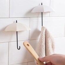 Colgador de llaves con forma de paraguas Creativo de 3 unids/lote, colgador decorativo para el hogar, ganchos de pared para cocina, accesorios de baño, gadgets