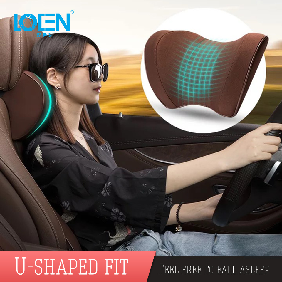 LOEN New Memory Foam Functional Neck Pillow U Shaped Travel Pillow Car Head Neck Rest Pillow Seat Cushion For Travel Home Office u miss functional inflatable neck pillow inflatable u shaped travel pillow car head neck rest air cushion for travel neck pillow
