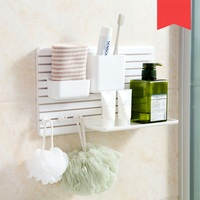 Free Punching Sticker Bathroom Shelf Toilet Toilet Washbasin Kitchen Wall Mount Storage rack