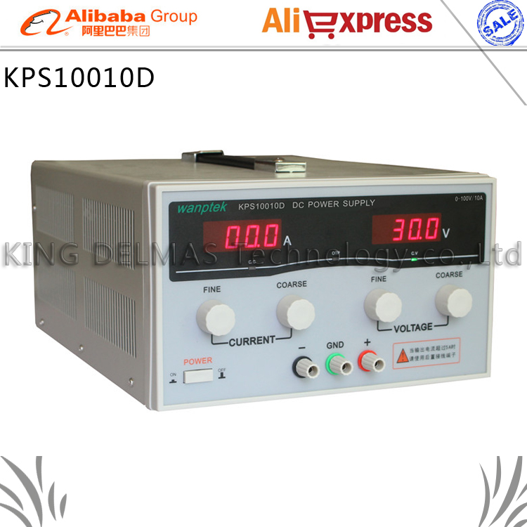 KPS10010D High precision High Power Adjustable LED Dual Display Switching DC power supply 220V EU 100V/10A купить в Москве 2019