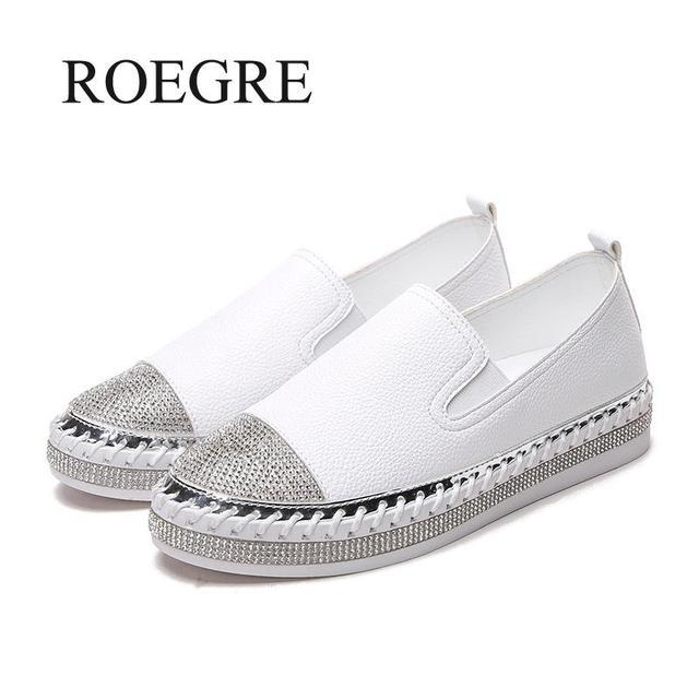 Famosa marca europeas Patchwork zapatos de alpargatas de mujer de cuero genuino enredaderas pisos Damas de Blanco mocasines de cuero