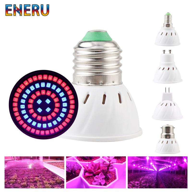 Led Grow Light Bulb E27 E14 GU10 MR16 AC 220V 230V 240V Growing Lamp For Flower Plant Hydroponics System Aquarium Led Lighting
