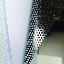 54inx33ft Perforated One Way Vision Print Media Vinyl Window Film Perforated Mesh Film (1.37mx10m)