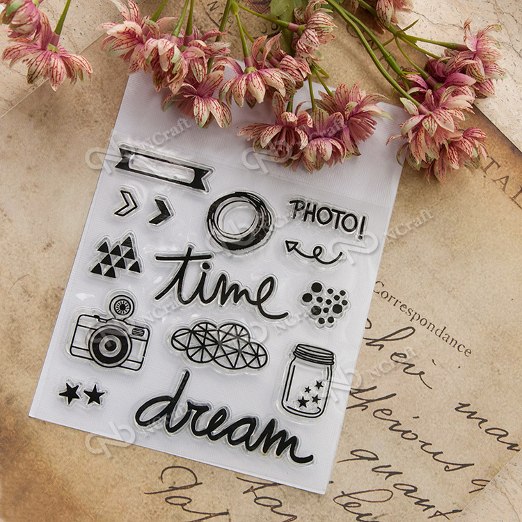 TIME Element material Clear stamp Scrapbook DIY photo cards account rubber stamp clear stamp transparent chapter scrapbook diy photo cards account rubber stamp clear stamp finished transparent chapter wall decoration 15 18
